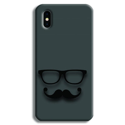 Cute mustache Gray iPhone X Case