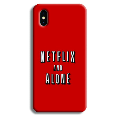 Netflix and Alone iPhone XS Case