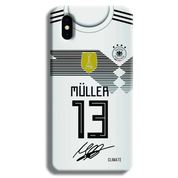 Muller Jersey iPhone X Case