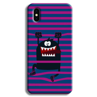 Laughing Monster iPhone X Case