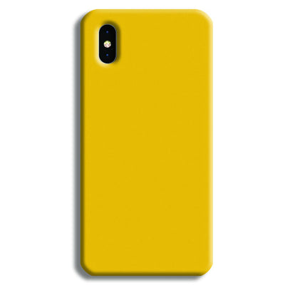 Yellow Crome iPhone XS Case
