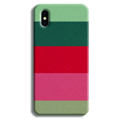 Colored Strips iPhone X Case