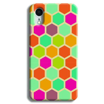 Hexagon Color Pattern iPhone XR Case