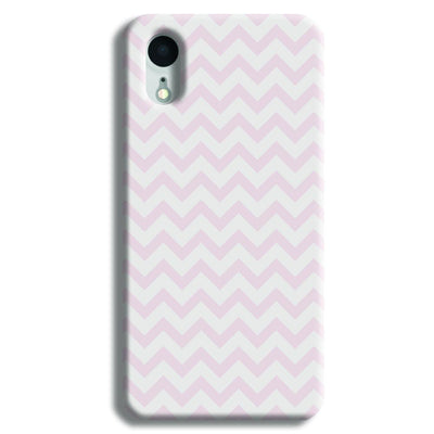 Lite Pink Chevron Pattern iPhone XR Case