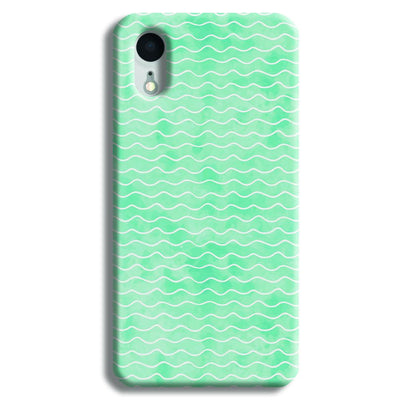 Wavy Blue Pattern iPhone XR Case