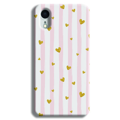 Cute Heart Pattern iPhone XR Case