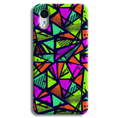 Geometric Color Pattern iPhone XR Case