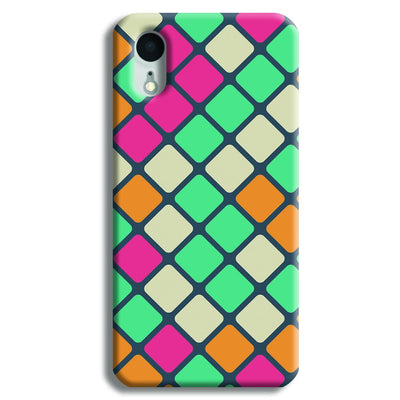 Colorful Tiles Pattern iPhone XR Case