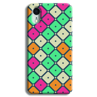 Colorful Tiles with Dot iPhone XR Case