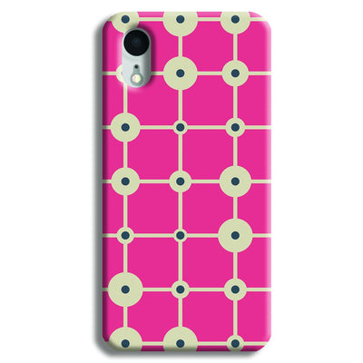 Pink & White Abstract Design iPhone XR Case