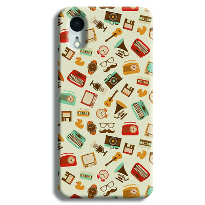 Vintage Elements Pattern iPhone XR Case