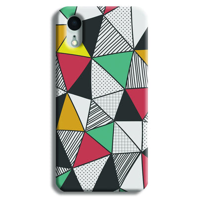 Triangle Abstract Pattern iPhone XR Case