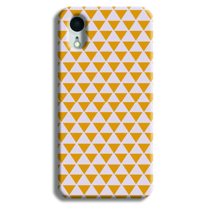 Yellow Triangle iPhone XR Case