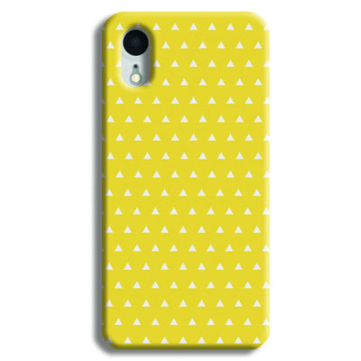 White Triangle iPhone XR Case