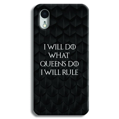 Daenerys Quotes iPhone XR Case