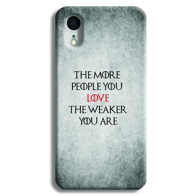 The More People Love You iPhone XR Case