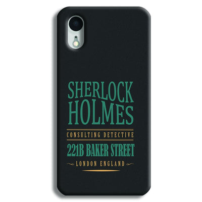 Sherlock Holmes Quote iPhone XR Case