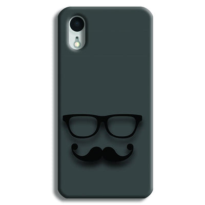 Cute mustache Gray iPhone XR Case
