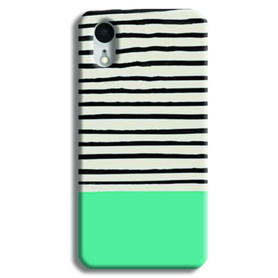 Aqua Stripes iPhone XR Case