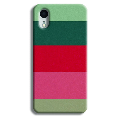 Colored Strips iPhone XR Case