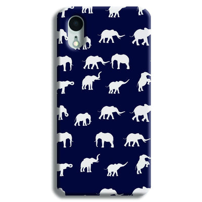 Elephant Pattern iPhone XR Case