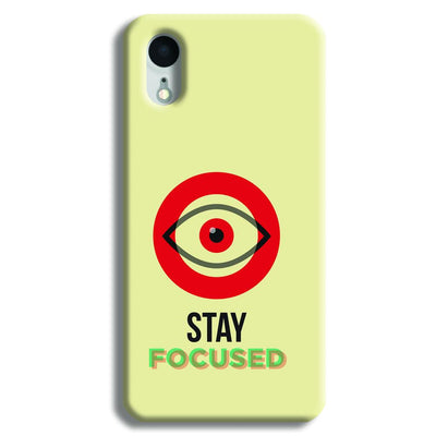 Stay Focussed iPhone XR Case