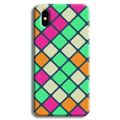 Colorful Tiles Pattern iPhone XS Max Case