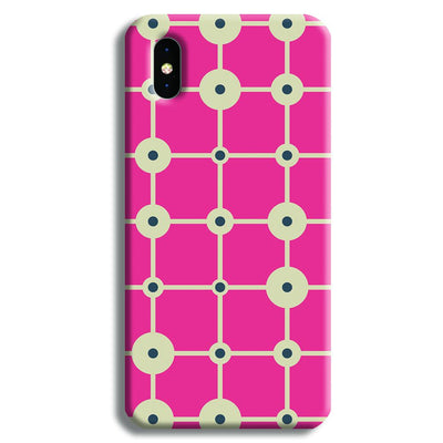 Pink & White Abstract Design iPhone XS Max Case