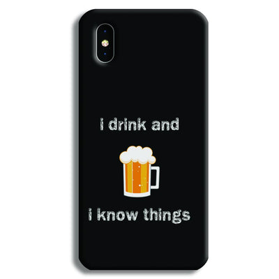 I Drink iPhone XS Max Case