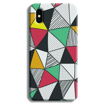 Triangle Abstract Pattern iPhone XS Max Case