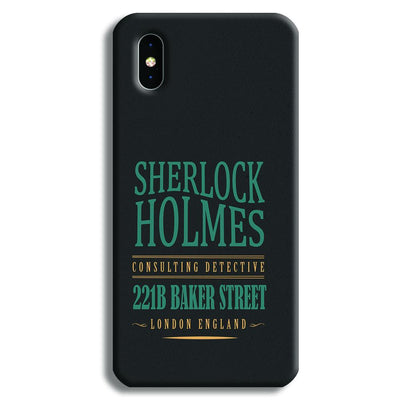 Sherlock Holmes Quote iPhone XS Max Case