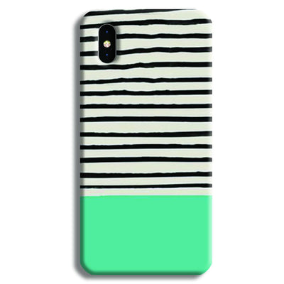 Aqua Stripes iPhone XS Max Case