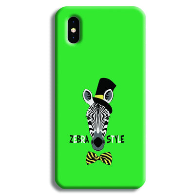 Zebra Style iPhone XS Max Case