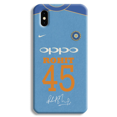 Rohit Sharma Jersey Apple iPhone XS Max Case