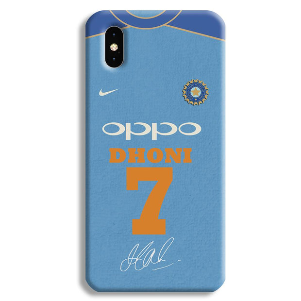 Dhoni Jersey Apple iPhone XS Max Case