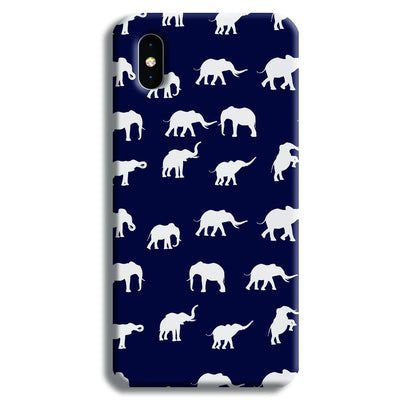 Elephant Pattern iPhone XS Max Case