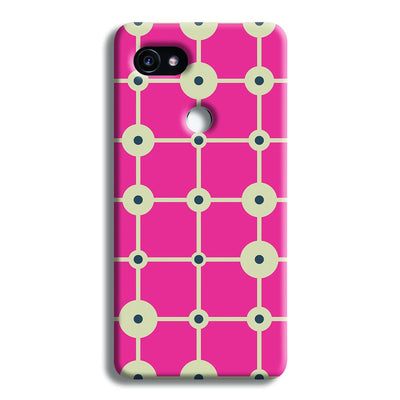 Pink & White Abstract Design Google Pixel 2 Case