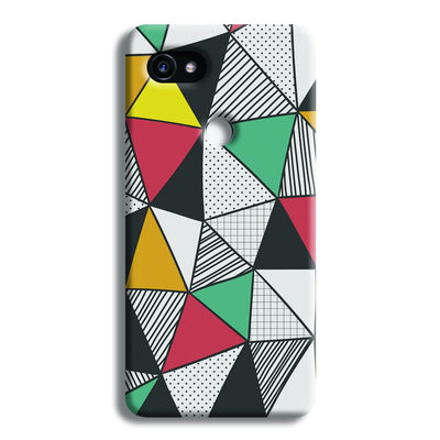 Triangle Abstract Pattern Google Pixel 2 Case