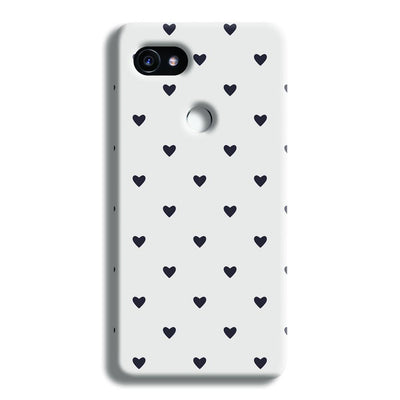 Black Heart Pattern Google Pixel 2 XL Case