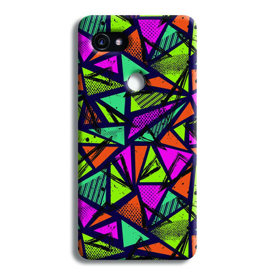 Geometric Color Pattern Google Pixel 2 XL Case