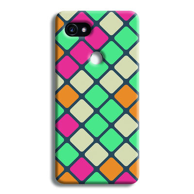 Colorful Tiles Pattern Google Pixel 2 XL Case