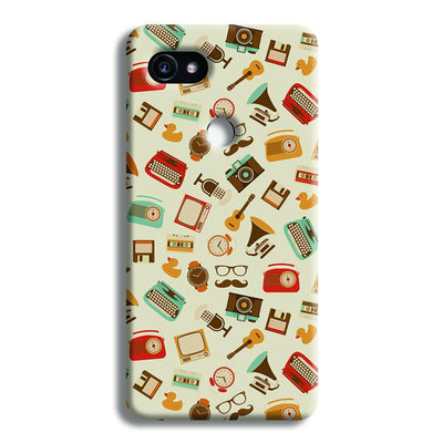 Vintage Elements Pattern Google Pixel 2 XL Case