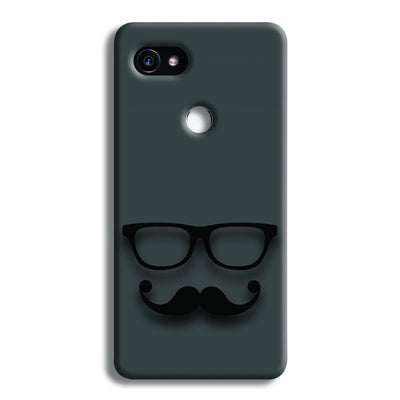 Cute mustache Gray Google Pixel 2 XL Case