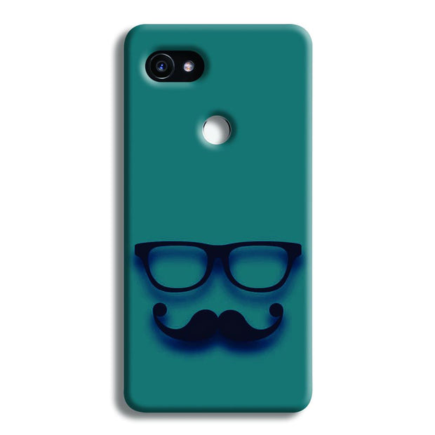 Cute mustache Blue Google Pixel 2 XL Case