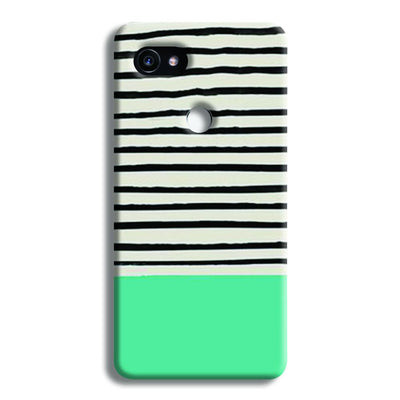 Aqua Stripes Google Pixel 2 XL Case