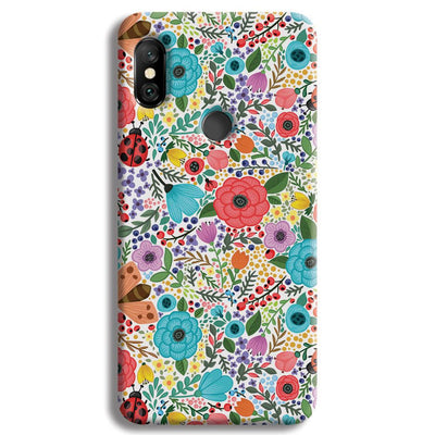 Floral Pattern Redmi Note 6 Pro Case