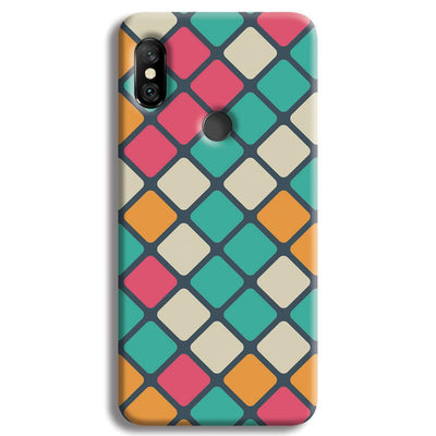 Colorful Tiles Pattern Redmi Note 6 Pro Case