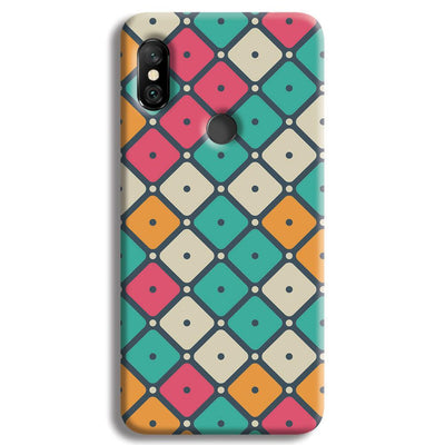 Colorful Tiles with Dot Redmi Note 6 Pro Case