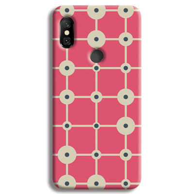 Pink & White Abstract Design Redmi Note 6 Pro Case