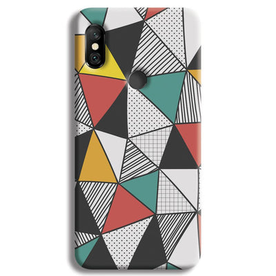 Triangle Abstract Pattern Redmi Note 6 Pro Case